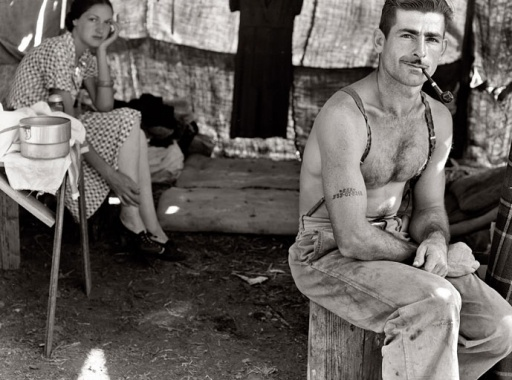 Original photograph by dorothea lange