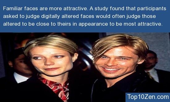 Familiar faces are more attractive.