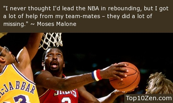 Moses Malone Quotes American - Athlete March 23, - September 13, Ain't nobody ever had a jumpshot like mine, ain't nobody ever power moves like mine, ain't nobody ever tough defense like mine and ain't nobody ever had the courage to be a winner like fattfawolfke.ml: Sep 13,