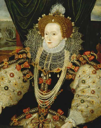 Portrait of Queen Elizabeth I by George Gower