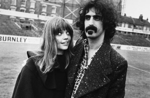Frank Zappa with his daughter