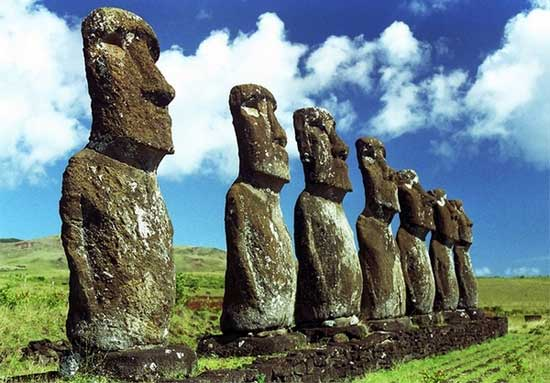 Moai by the Rapa Nui people