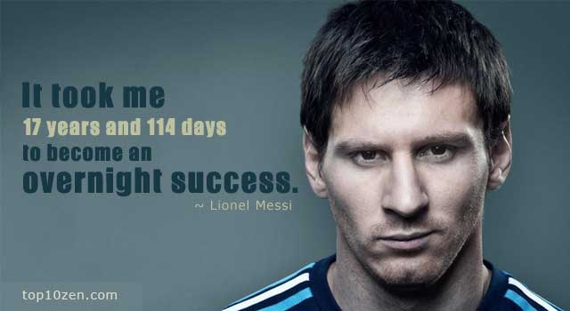 Lionel Messi success quote