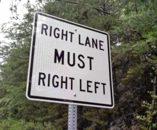 Right lane must right left