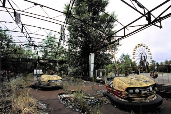 These bumper cars have seen better days.