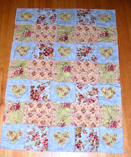 Ragged Hearts Quilt Pattern